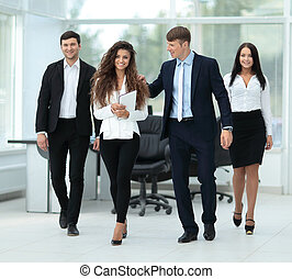 pomyślny, businessteam, planowanie, praca