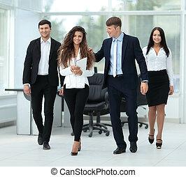 pomyślny, planowanie, praca, businessteam