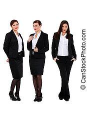 pomyślny, trzy, businesswomen