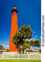 Ponce de Leon Inlet Lighthouse, near Daytona Beach, Florida.