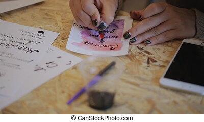 ponctuation, lettrage, formation, symbols., carte postale, ...