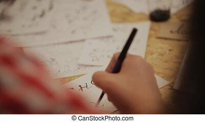 ponctuation, lettrage, formation, symbols., handmade., -, ...