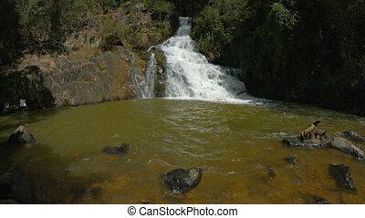 Pond beneath Datanla Falls near Da Lat, Vietnam, with Sound...