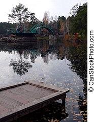 Pond in Gagarin park - Chelyabinsk
