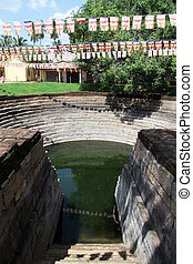 Pond in monastery