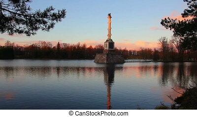 pond in Pushkin Park, Tsarskoye Selo, St. Petersburg