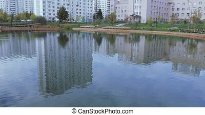 Pond in the city park