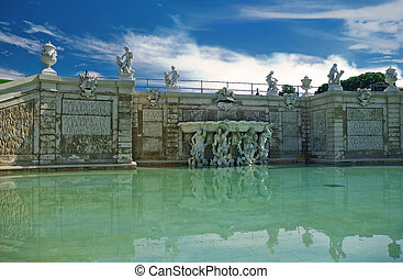 Pond near the Belvedere