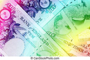 pond, valuta, achtergrond, -, tien, pond sterlingen, -,...
