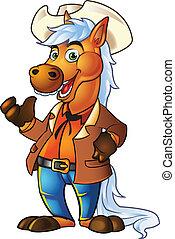 poney, cow-boy