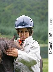 poney, enfant
