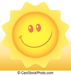 ponha ao sol experiência, feliz