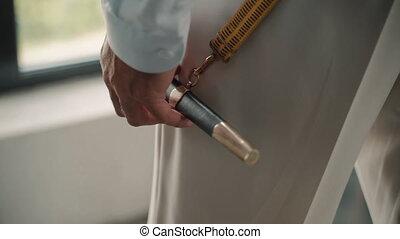 poniard, case., antiquité, homme, poignard, sword., marin, retro, couteau, prise, strip., pendre, rasoir, naval