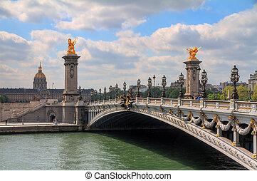 pont alexandre iii, en, primavera