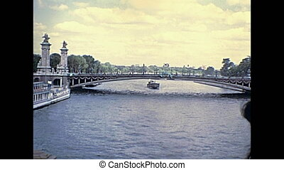 Pont Alexandre III on Senna - Bridge Pont Alexandre III and...