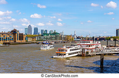 pont, angleterre, -, tamise, tour, londres, vue