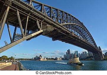 pont, australie, port sydney