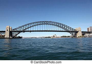 pont, australie, -, port sydney