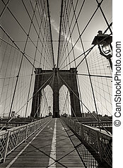 pont brooklyn, dans, new york