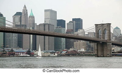 pont, brooklyn, york, nouveau, ville
