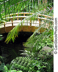 pont, caché, vert