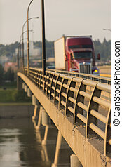 pont, camion, semi
