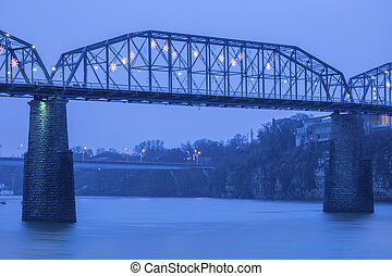 pont, chattanooga, noix, rue