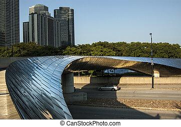 pont, chicago, millénaire, parc