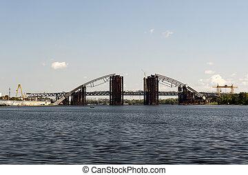 pont, construction, nouveau