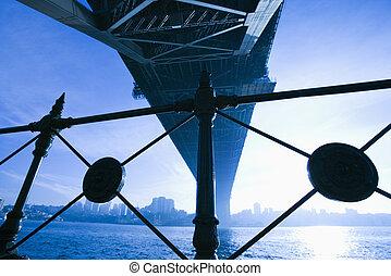 pont, dans, sydney, australia.