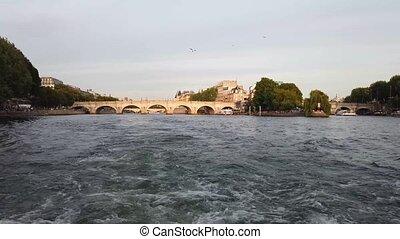 Pont des Arts, Paris, France - old bridge Pont Neuf and ...