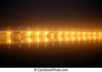Pont des martyrs Bridge at night