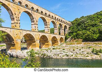 Pont du Gard is the highest Roman aqueduct
