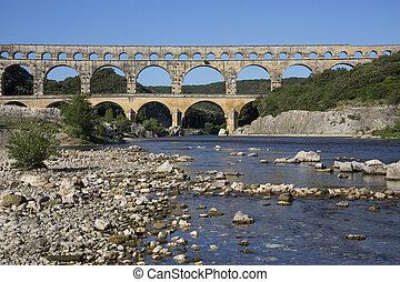 Pont du Gard - South of France - Pont du Gard Roman Aquaduct...