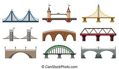 pont, ensemble, fer