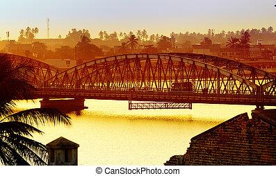 Saint-Louis, Senegal - Pont Faidherbe bridge Welcome in...