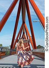 pont, femme, nepean, penrith, croisement, yandhai