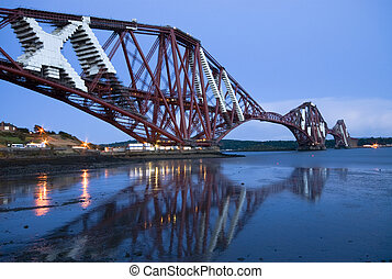 pont, ferroviaire, forth, (edinburgh)