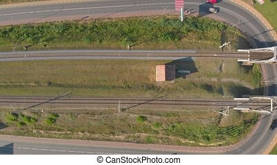 pont ferroviaire, jonction, route