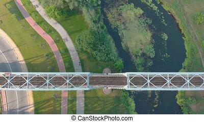 pont, ferroviaire, rivière