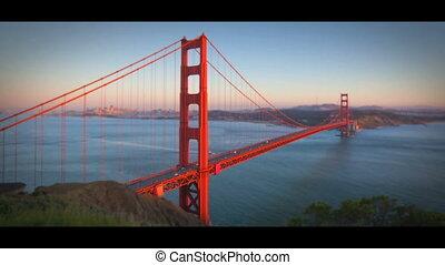 pont, francisco, san, doré, timelapse, portail