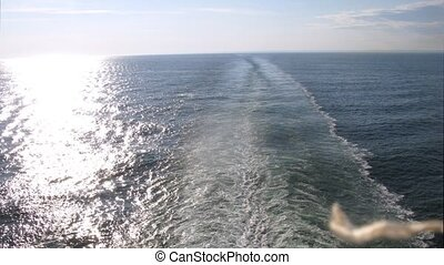 pont, gauche, piste, soleil, défaillance, eau, temps, bateau, surface, route, vue