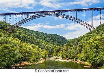 pont, gorge, rivière, nouveau