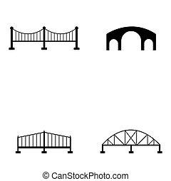 pont, icône, ensemble