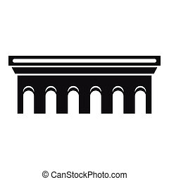 pont, icône, simple, style