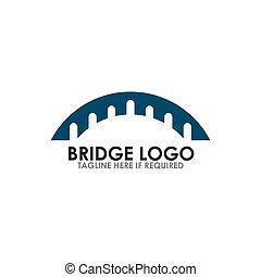 pont, icône, vecteur, conception, logo, gabarit