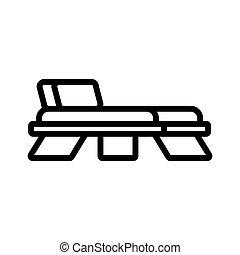 pont, illustration, dos chaise, contour, icône, bois, vecteur