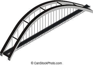 pont, isométrique, voûte
