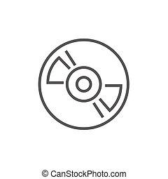 pont, ligne, joueur, bande, icon., bobine, enregistreur