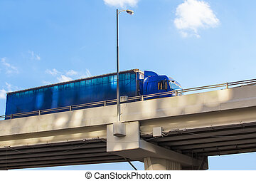 pont, livre, camion, fret